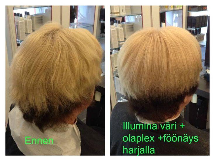 #olaplex #beforeandafter #shorthair #blondhair made By Sirpa polvi