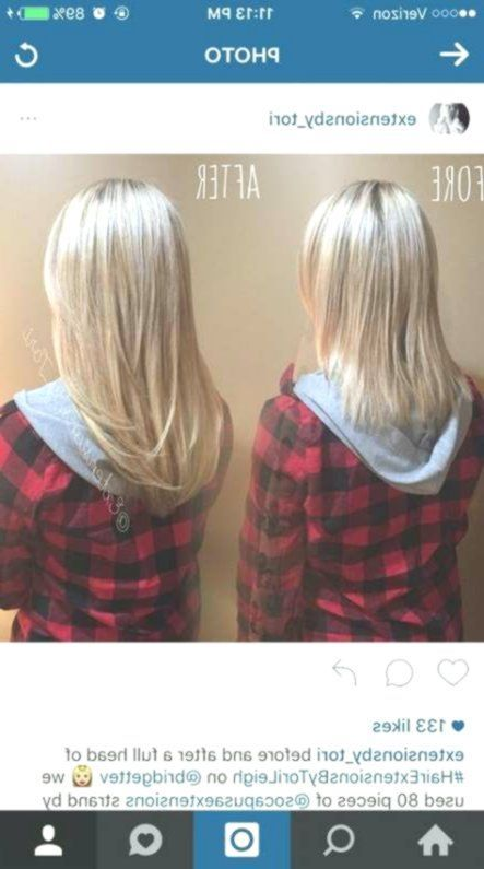 Haarverlängerungen vor und nach dem 45. Geburtstag einclipsen Ideen für 2019 - Haar ... #nach #vor #Clip #verlängerungen #Haar