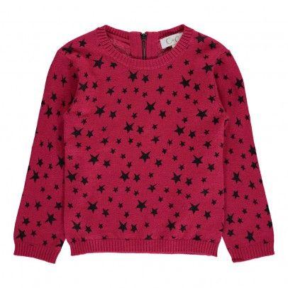Aubrey Stars Pullover Fuchsia  C de C
