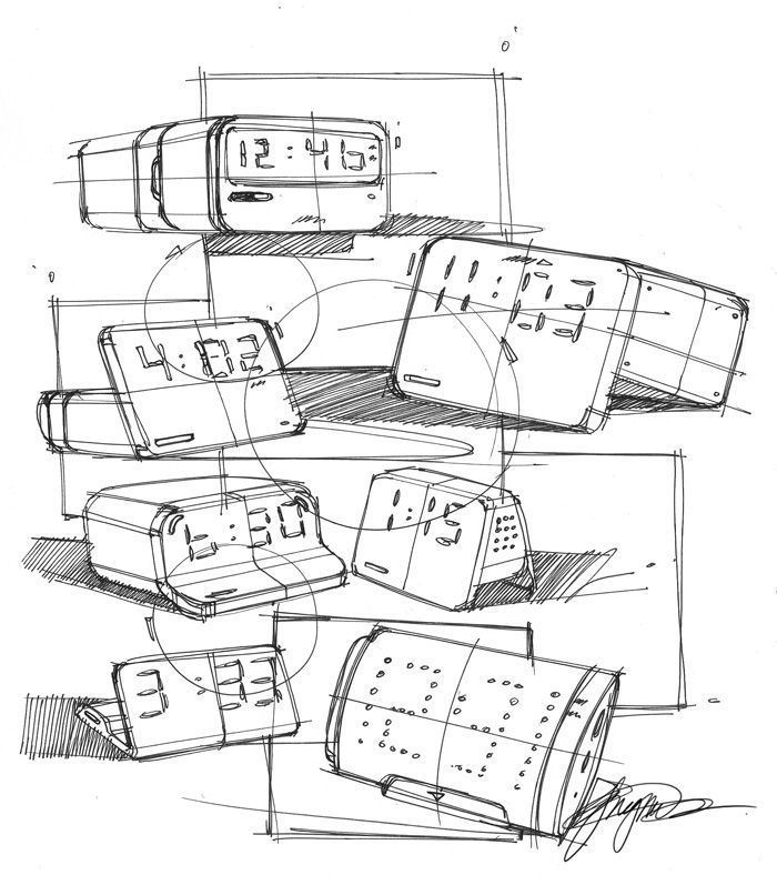 Sketch-A-Day 154: Alarm Clock Scribbles Sketch-A-Day | Sketch-A-Day | Sketches by Spencer Nugent