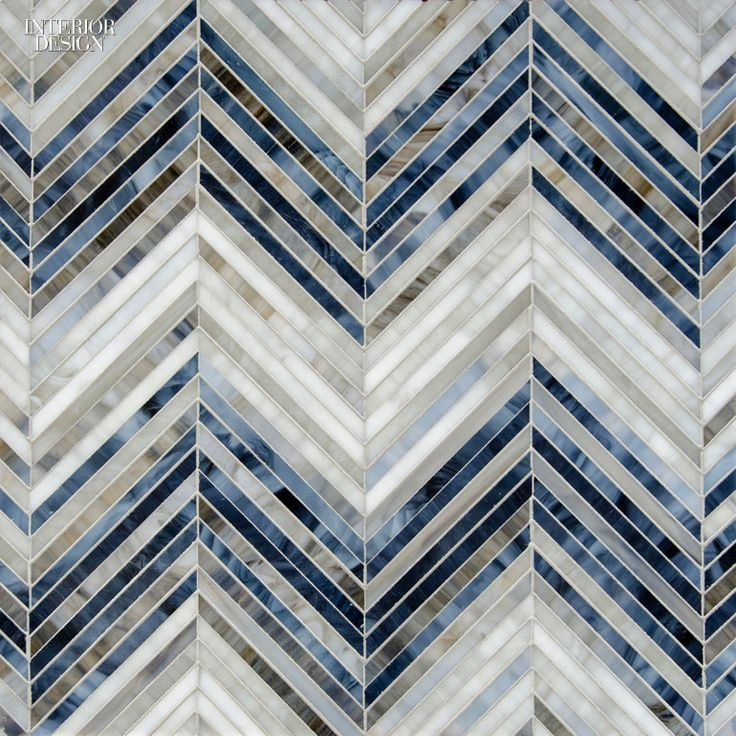 Editors' Picks: 41 Powerful Building Products | Sara Baldwin's Ombre Chevron glass mosaics in Lavastone, Zircon, and Alabaster by New Ravenna #design #interiordesign #interiordesignmagazine