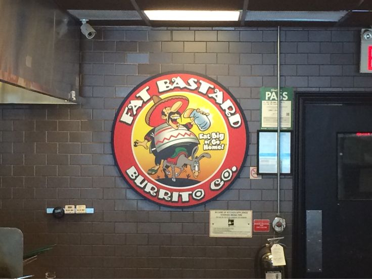 Just had our fill at Fat Bastard Burritos. I don't want to eat for a week.
