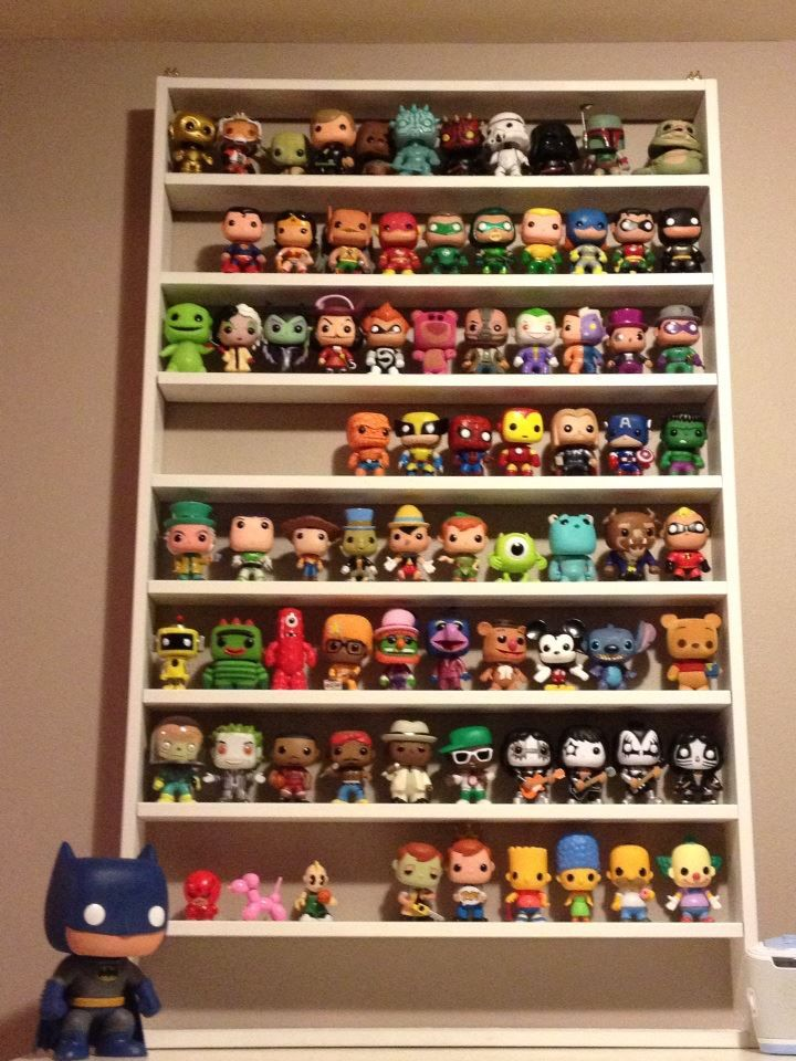 """5"""" between shelves, maybe for smaller collectibles, or make larger ?  