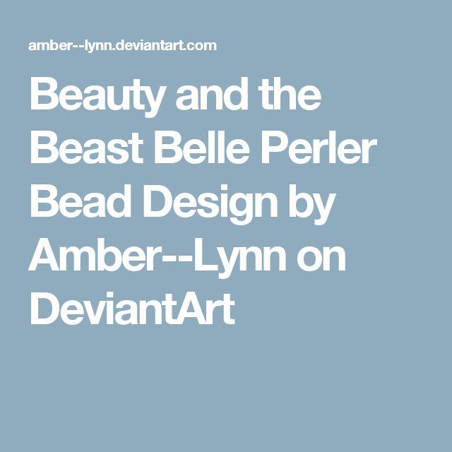 Beauty and the Beast Belle Perler Bead Design by Amber--Lynn on DeviantArt