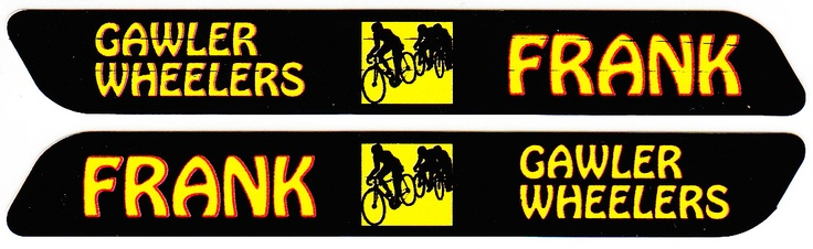 Long Bike Tag with Name Sticker (Width=90mm, Height=12mm)