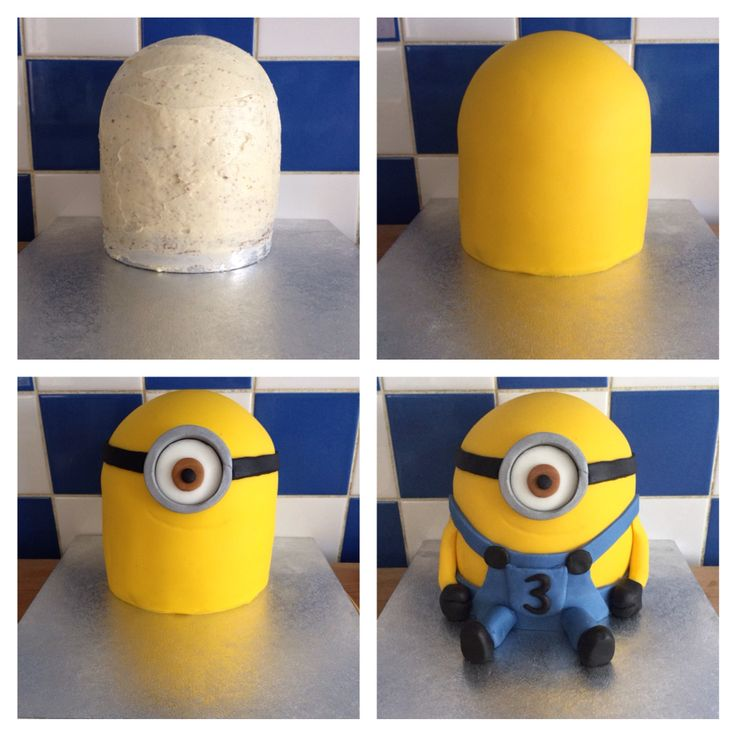 Step by step 3D Minion Cake Tutorial Evolution of a Minion