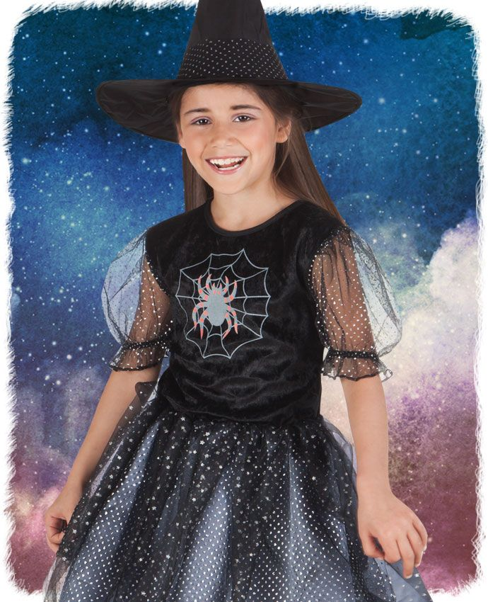 dress your child up for trick or treat in this cute spider witch costume a - Kids Spider Halloween Costume