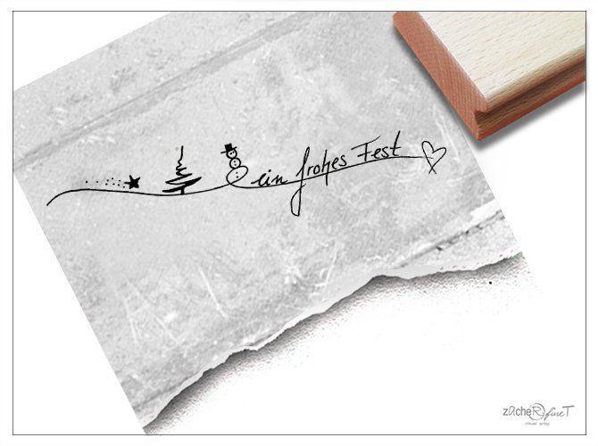 Magical Christmas Handwritten Font Rubber Stamp