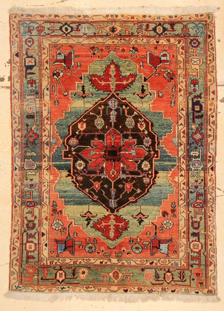 Azeri Heriz Rug 4 9 X 6 145 198 Cm On