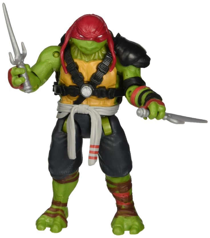 "Teenage Mutant Ninja Turtles Movie 2 Out Of The Shadows Raphael Basic Figure. Now you and Raphael can battle to save the city from evil!. 5"", fully pose able figure inspired by the movie Teenage Mutant Ninja Turtles Out of the Shadows from Paramount Pictures. Includes 2 Sai."