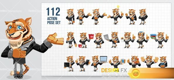 Businessman_Tiger_Cartoon_Character_Small_Preview http://www.desirefx.me/business-tiger-cartoon-character/