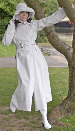 White Rubber Raincoat