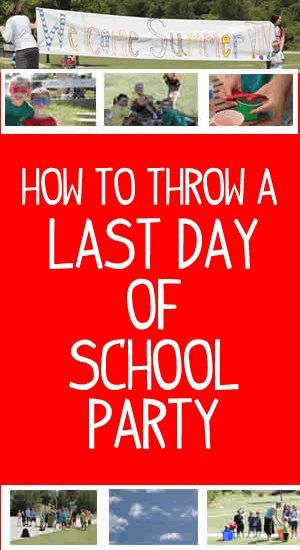 How to throw a last day of school party! End the school year with a bang. Check out how these kids celebrated the last day of school with a cook out, fun games and more.
