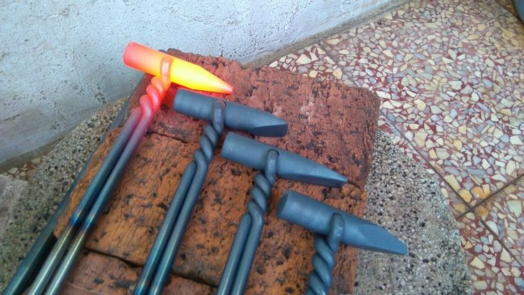 Blacksmith punches, hot cut, slitter - GS Tongs