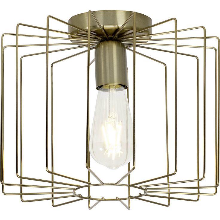 Brilliant Leuchten Onelia Deckenleuchte messing gebürstet Jetzt bestellen unter: https://moebel.ladendirekt.de/lampen/deckenleuchten/deckenlampen/?uid=7c902e4c-0884-5aa2-8fea-f13641e08e03&utm_source=pinterest&utm_medium=pin&utm_campaign=boards #deckenleuchten #lampen #deckenlampen