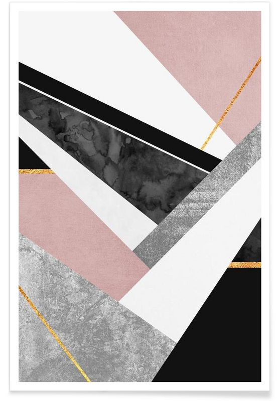 Lines & Layers as Premium Poster by Elisabeth Fredriksson | JUNIQE