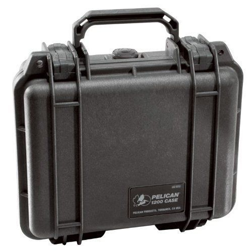 Pelican-1200-Case-with-Foam-for-Camera-Black-Free-Shipping-New