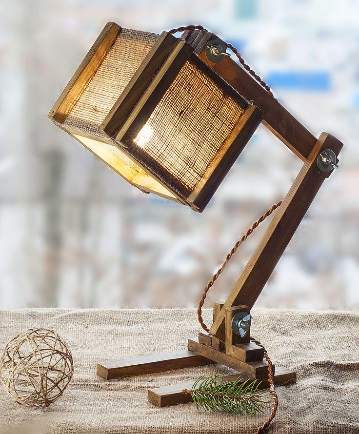 Burlap Table Lamp, Wooden torchere, Folding wood lamp, Wood Lamp, Lamp shades wood, Wooden Lamp, Floor Lamp, Desk light, Burlap Wood light