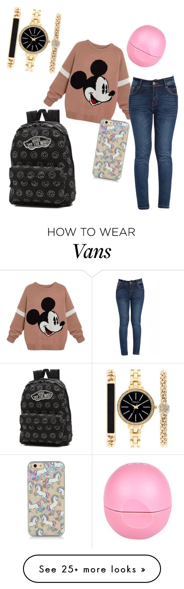 """Casual school outfit xx"" by grungexgirlx on Polyvore featuring Style & Co., River Island and Vans"