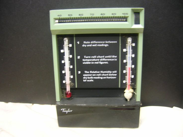 Vintage Taylor Hygrometer Relative Humidity Thermometer  #Taylor