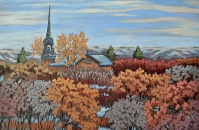 """Sharron Labatt - Cathedral, Lebret Looking East 20 x 30"""" acrylic/canvas 
