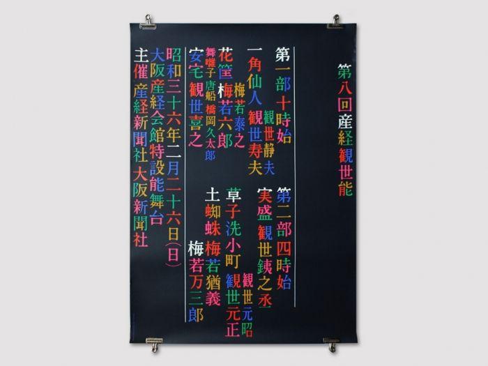 Display   Ikko Tanaka Sankei Kanze No Theatre Performing Arts Poster   Collection
