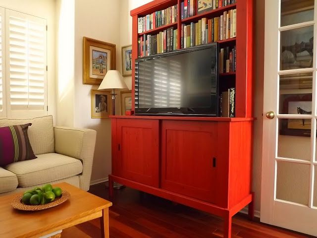 Dusty Coyote: Desert House Den, Ikea Dining Room Hutch/cabinet Turned Tv  Cabinet