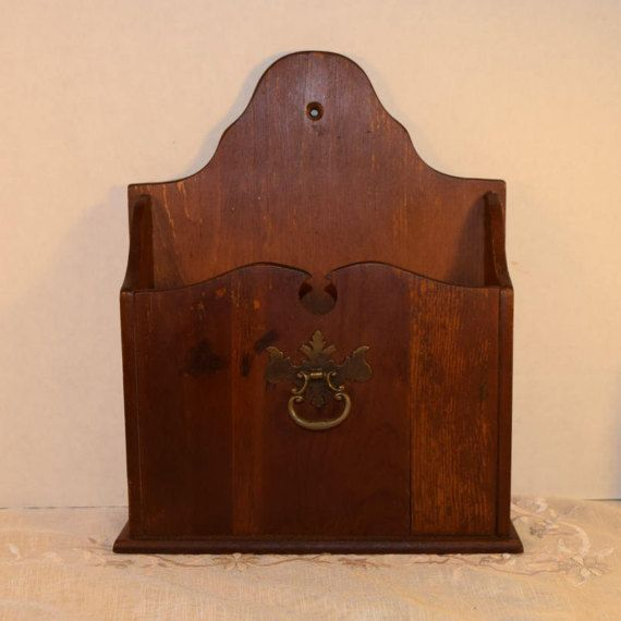 Letter box Dark Wood Stain Vintage Decorative Wooden Box Bill