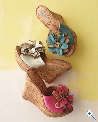 Love these Born Lovina Flower Wedge Sandals.