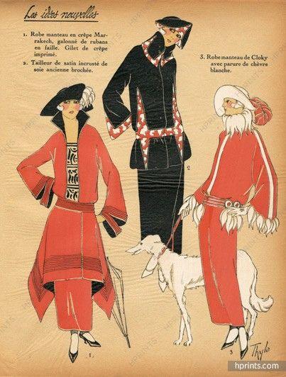 1922 Les Idées Nouvelles de la Mode - Très Parisien, Winter Dresses, Sighthound…