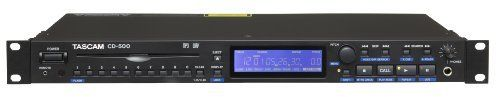 Tascam CD-500 CD Player by Tascam. $471.22. TASCAM's best-selling line of single-rackspace CD players has been updated to the CD-500. The CD-500 is a slot-loading CD player with a new transport, featuring brushless motors and an edge-grabbing mechanism to prevent disc damage. A front-panel 10-key pad gives you instant access to CD tracks, and flash start is available for instant playback. The CD-500 supports MP3 and WAV file playback from CD-ROM as well as traditional audio CDs...