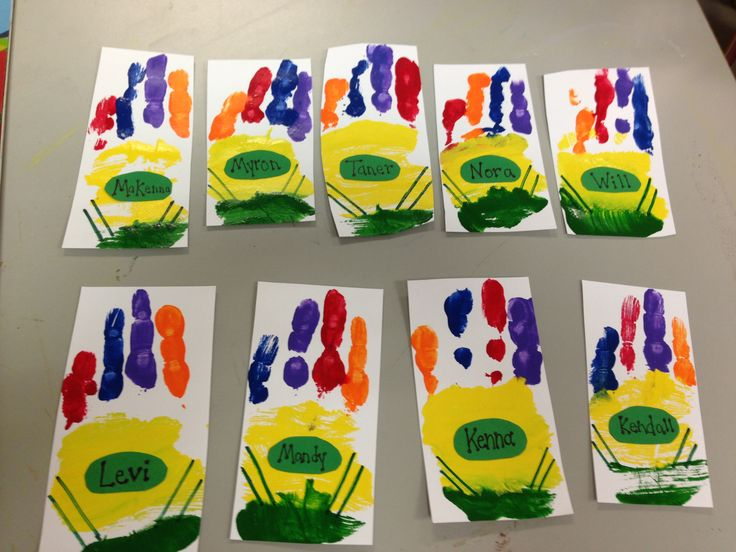 Handprint crayon boxes- perfect for the crayon box that talked!