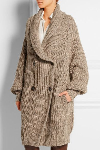 Chloé | Oversized ribbed wool-blend cardigan | NET-A-PORTER.COM