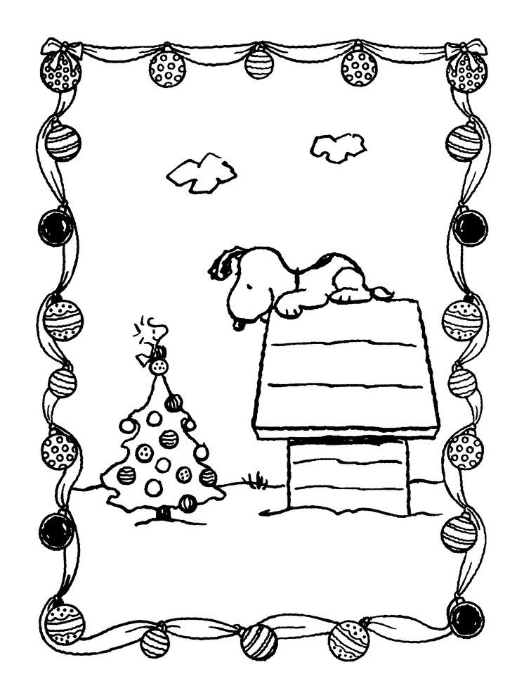 Find This Pin And More On Snoopy Woodstock Xmas Colouring Page