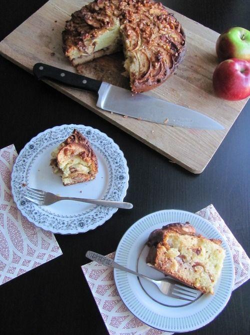 Gâteau aux pommes et à la crème sûre_Mes tergiversations