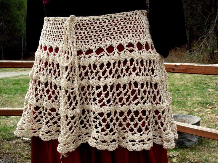 Bohemian Lace Yoga Skirt.