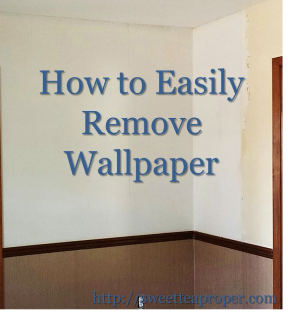How To Remove Wallpaper Easy Removing Wallpaper Diy