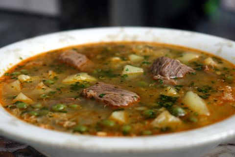 Quinoa soup with meat or sopa de quinua con carne -- Laylita is a genius, this soup is wonderful.