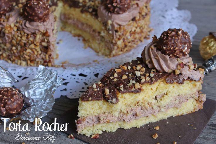 La Torta Rocher è una ricetta davvero molto semplice da preparare..con questa crema golosissima ai ferrero rocher..una vera delizia per il palato