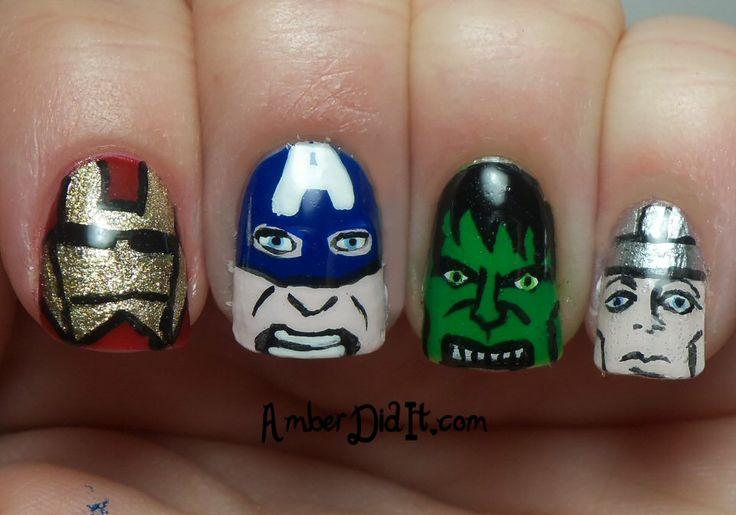 Amber did it!: Avengers Nail Art