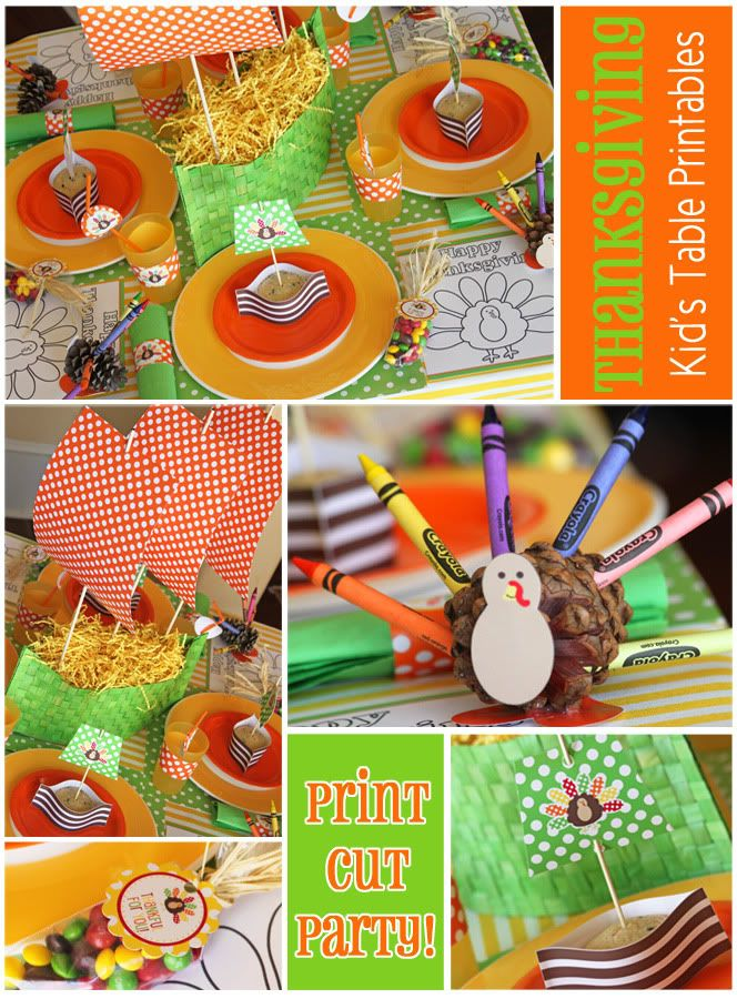 This site has some adorable ideas for Thanksgiving decorations!: Thanksgiving Crafts, Kids Tables, Activities For Kids, Printable Templates, Thanksgiving Decor, Kids Meals, Thanksgiving Parties, Free Printable, Thanksgiving Tables
