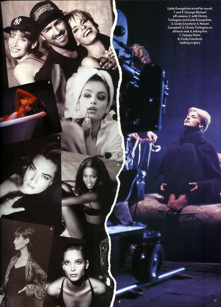 90's Supermodels from George Michael's Freedom 90 video. Linda,Christy,Cindy,Naomi, and Tatjana. Sooo gorgeous!