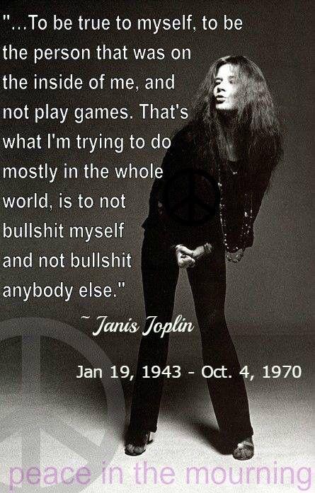 "Janis Joplin: ""To be true to myself ... #music #janisJoplin"
