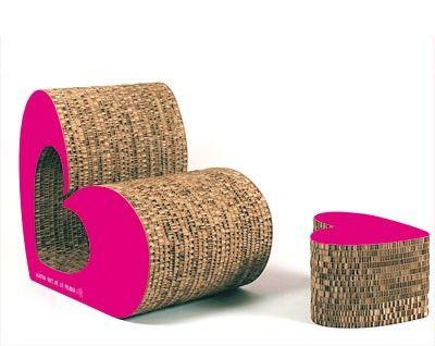 Cardboard Armchair - Love sofa - free template