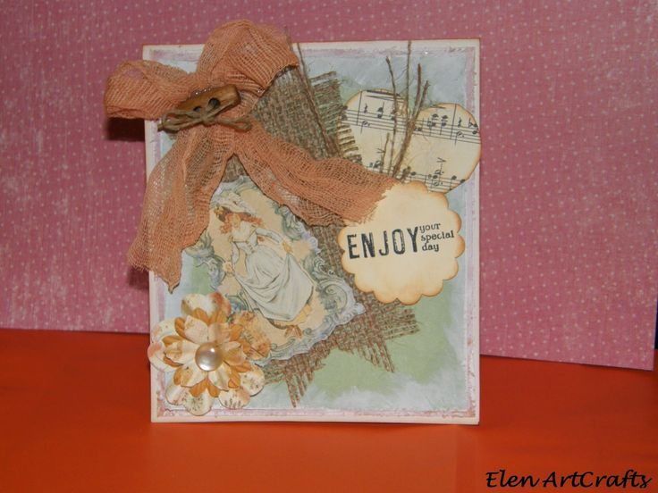 Elen ArtCrafts: Ευχετήρια Κάρτα/Vintage card
