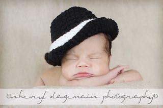 Ravelry: Lil' Gangsta Trilby Fedora Hat pattern by Janel Feathers