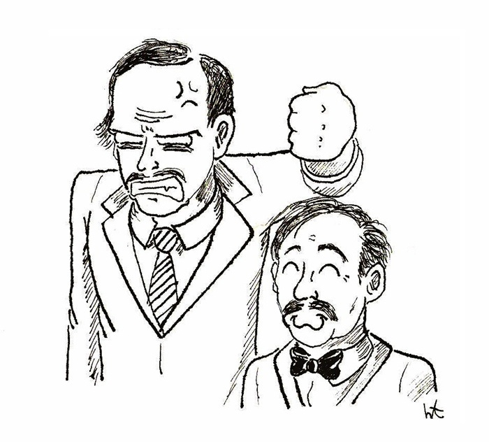 Basil Fawlty & Manuel, Fawlty Towers.