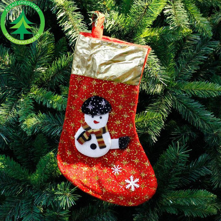 Christmas Decorations  2017 Christmas Stocking Clthes Santa Socks Christmas Gift For New Year Candy Gift Bags For Kids