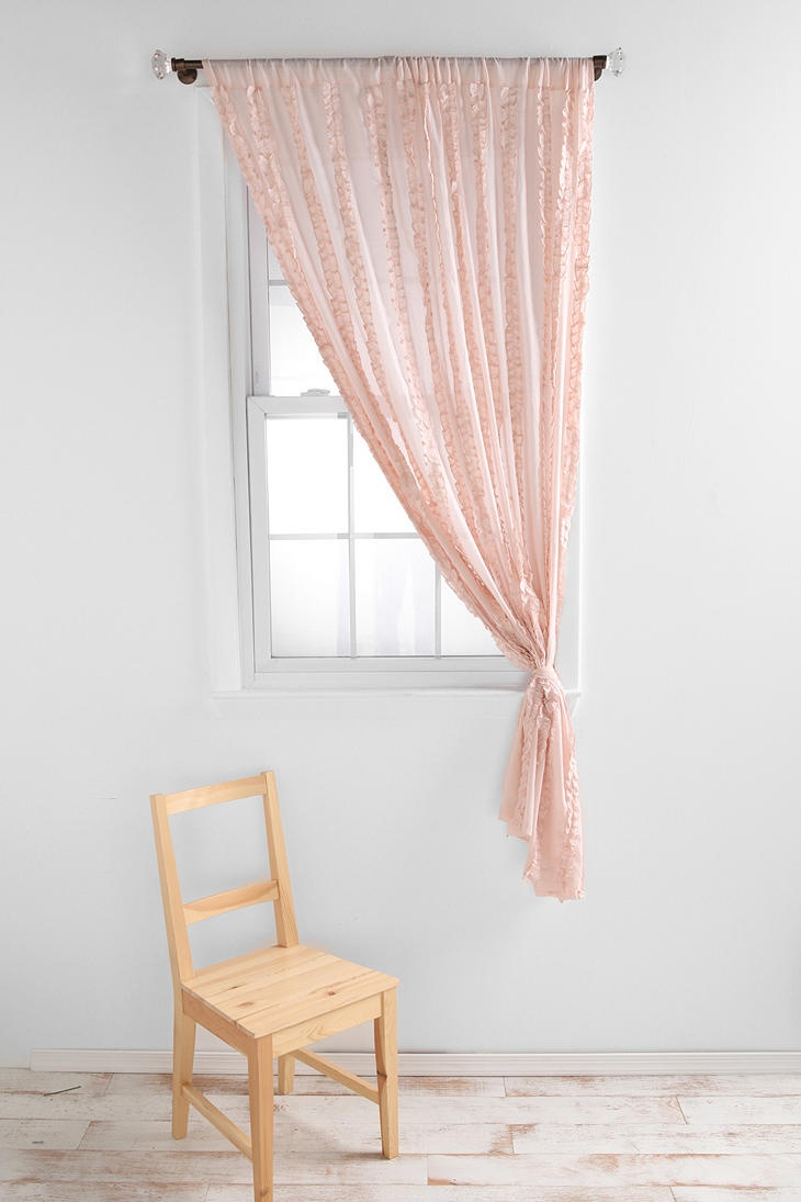 Shop Tuxedo Ruffle Curtain At Urban Outfitters Today