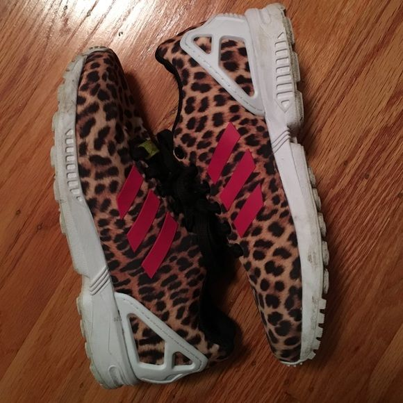 "Adidas ZX Flux ""Leopard Cheetah"" US: 6.5   UK: 5   EUR: 38   JPN/CHN: 235 Adidas Shoes Sneakers"